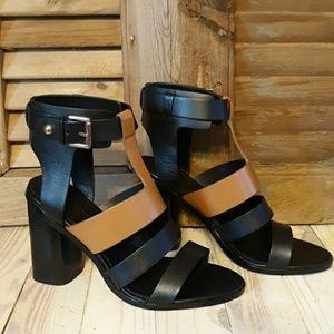 *NWOT* SIGERSON MORRISON Coria Black & Tan Sandals